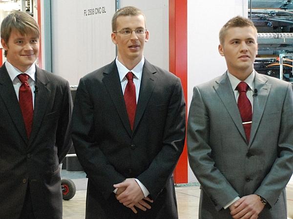 Nõo Lihatööstuse tiim - Ragnar Loova, Marek Laanbek ja Simmo Kruustük